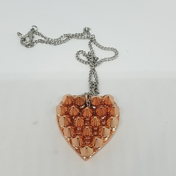 GASOLINE GLAMOUR Jewelry - Rose gold small spike heart necklace new